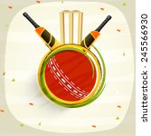 cricket sports concept with... | Shutterstock .eps vector #245566930