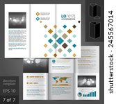 white brochure template design... | Shutterstock .eps vector #245567014