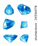 blue illustrated jewels in high ... | Shutterstock . vector #24556978