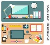 big set of graphic designer...   Shutterstock .eps vector #245570908