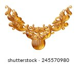 gold vintage ornament... | Shutterstock . vector #245570980