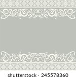 white ribbon lace vintage | Shutterstock . vector #245578360