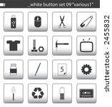"white button set 09 ""various1""   Shutterstock .eps vector #2455832"