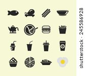 food icon set | Shutterstock .eps vector #245586928