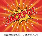 jackpot  jackpot   wording in... | Shutterstock .eps vector #245591464