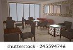 3d design of a room    Shutterstock . vector #245594746