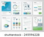 collection infographics... | Shutterstock .eps vector #245596228