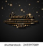 valentines day background for... | Shutterstock . vector #245597089