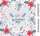 Valentine's Poster With Spring...