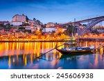 porto  portugal old town... | Shutterstock . vector #245606938