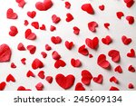 hearts of the red paper ...   Shutterstock . vector #245609134