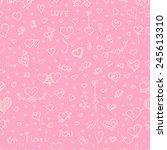 love seamless pattern. doodle... | Shutterstock . vector #245613310