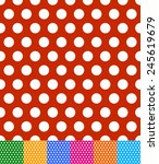 Vector illustration of polka dot, dotted, dots backgrounds, patterns. Seamlessly repeatable. Eps 10 vector.