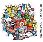 music downtown  | Shutterstock .eps vector #245623318