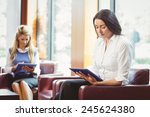 focused business colleagues... | Shutterstock . vector #245624380