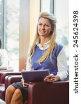 smiling businesswoman with