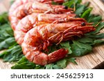 Grilled Prawns With Rocket Salad