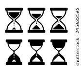 sand glass clock icons set.... | Shutterstock .eps vector #245633563