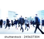 business people walking... | Shutterstock . vector #245637304