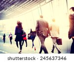 Business People Walking...