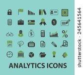business analytics ... | Shutterstock .eps vector #245641564