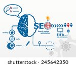 search engine optimization. seo ... | Shutterstock .eps vector #245642350