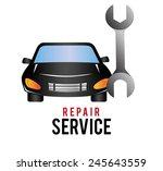 garage design over white... | Shutterstock .eps vector #245643559