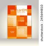 flyer  brochure or magazine... | Shutterstock .eps vector #245644810
