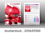 flyer  brochure  booklet design ... | Shutterstock .eps vector #245645500