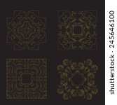 a set of four square patterns. | Shutterstock .eps vector #245646100