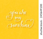 you are my sunshine hand drawn...   Shutterstock .eps vector #245649100