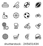 sports icons set with icons for ... | Shutterstock . vector #245651434