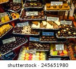 chocolates and other goodies in ... | Shutterstock . vector #245651980