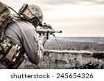 u.s. army sniper during the... | Shutterstock . vector #245654326