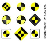 crash test vector icon set.... | Shutterstock .eps vector #245659126
