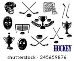 ice hockey emblem and logo... | Shutterstock .eps vector #245659876