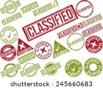 collection of 22 red grunge...   Shutterstock .eps vector #245660683