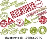 collection of 22 red grunge... | Shutterstock .eps vector #245660740