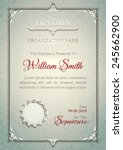 silver classic diploma with a... | Shutterstock .eps vector #245662900