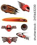 race and motorsport symbols in... | Shutterstock .eps vector #245663230