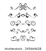 set of page decoration line... | Shutterstock .eps vector #245664628