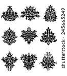 damask floral ornamental...   Shutterstock .eps vector #245665249