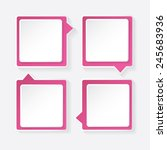 pink modern paper banners set   ... | Shutterstock .eps vector #245683936