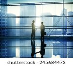 handshake business people team... | Shutterstock . vector #245684473