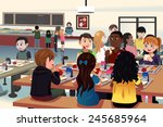 a vector illustration of kids... | Shutterstock .eps vector #245685964