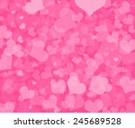 valentine's day background with ... | Shutterstock . vector #245689528