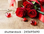 Roses And A Red Hearts ...