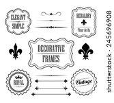 set of calligraphic flourish... | Shutterstock .eps vector #245696908