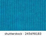 Blue Knitting Wool Texture...