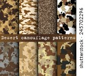 Set Of 8 Desert Camouflage...